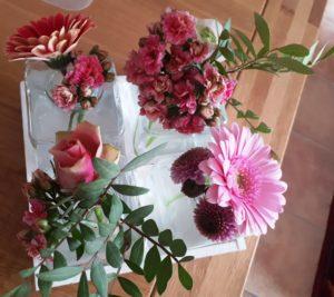 bloemen van een cliënte
